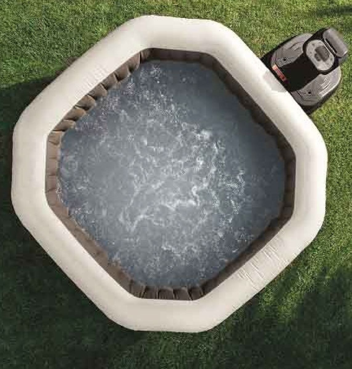SPA GONFLABLE INTEX PURESPA OCTO 4pl. BULLES+JETS NOIR