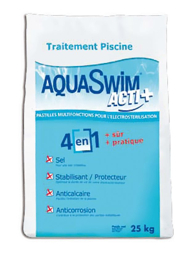 Sel aquaswim acti 25kg cash piscines for Prix piscine sel