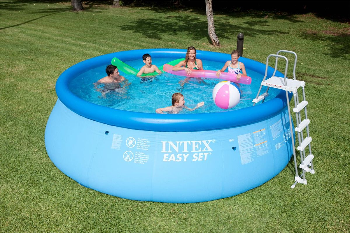 Piscine intex easy set 4 57x1 22 cash piscines for Piscines autoportees