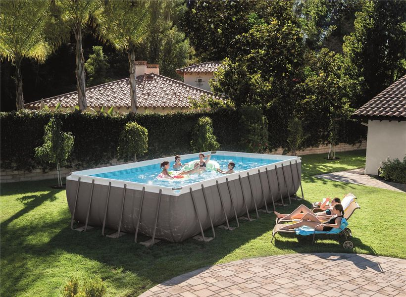 Piscine intex ultra silver rect 7 32x3 66x1 32 filtre a for Piscine intex silver ultra