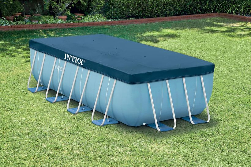 Bache piscine intex rectangulaire 4 00 x 2 00m cash piscines for Piscine hors sol bache